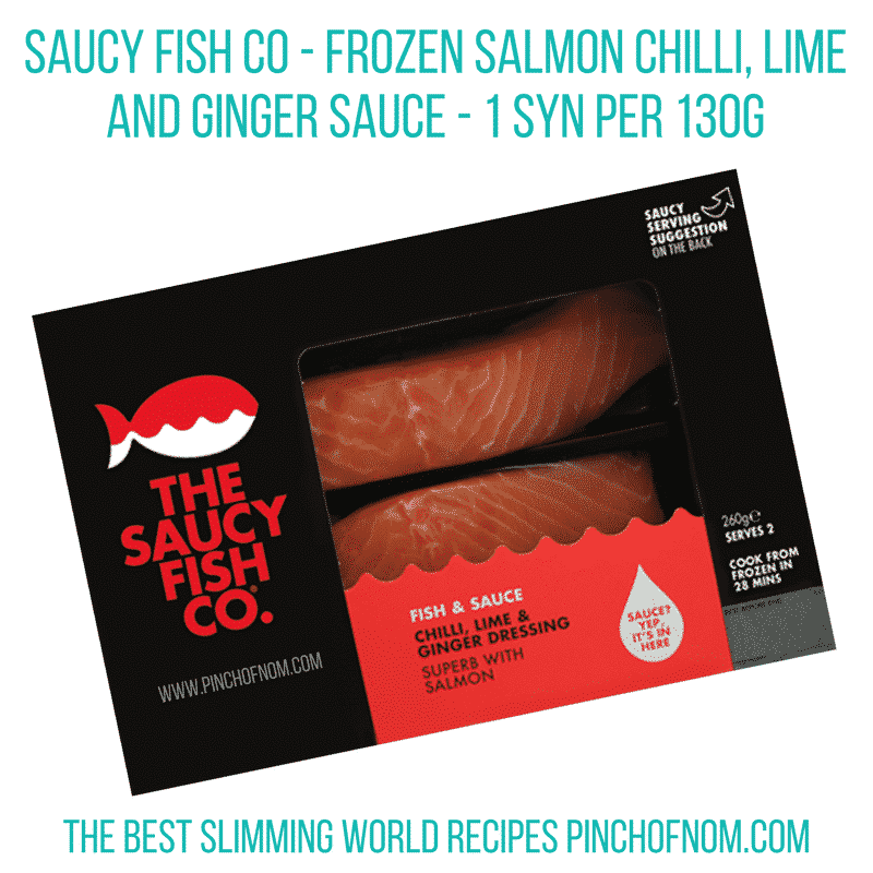 saucy fish co salmon new slimming world essentials - pinch of nom