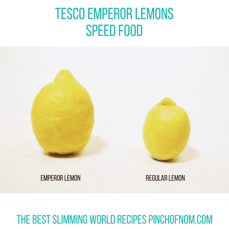 tesco lemons new slimming world essentials - pinch of nom