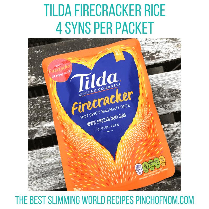 tilda firecracker rice - pinch of nom - slimming world shopping essentials