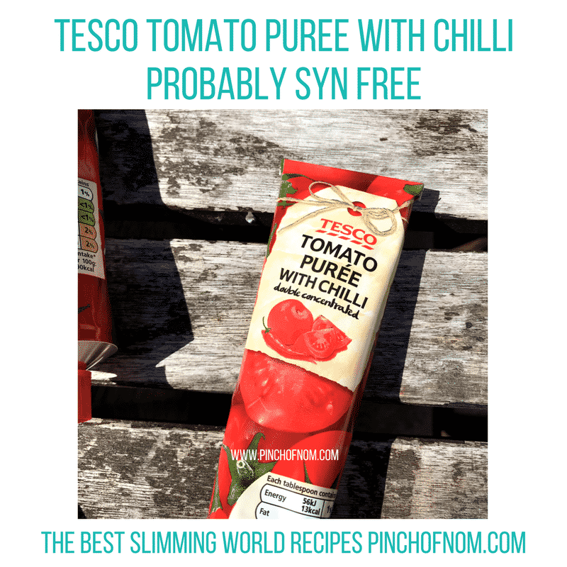 tomato puree with chilli - new slimming world shopping essentials - pinch of nom