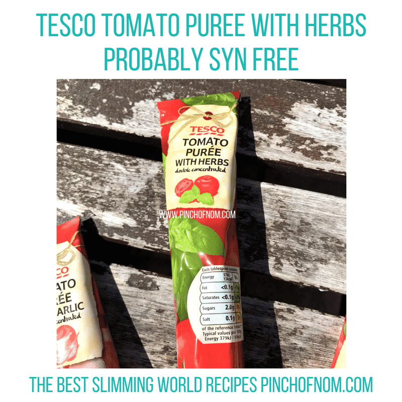 tomato puree with herbs - new slimming world shopping essentials - pinch of nom