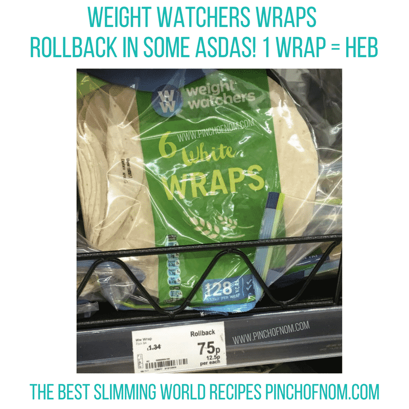 weight watchers wraps asda roll back tomato puree with garlic - new slimming world shopping essentials - pinch of nom