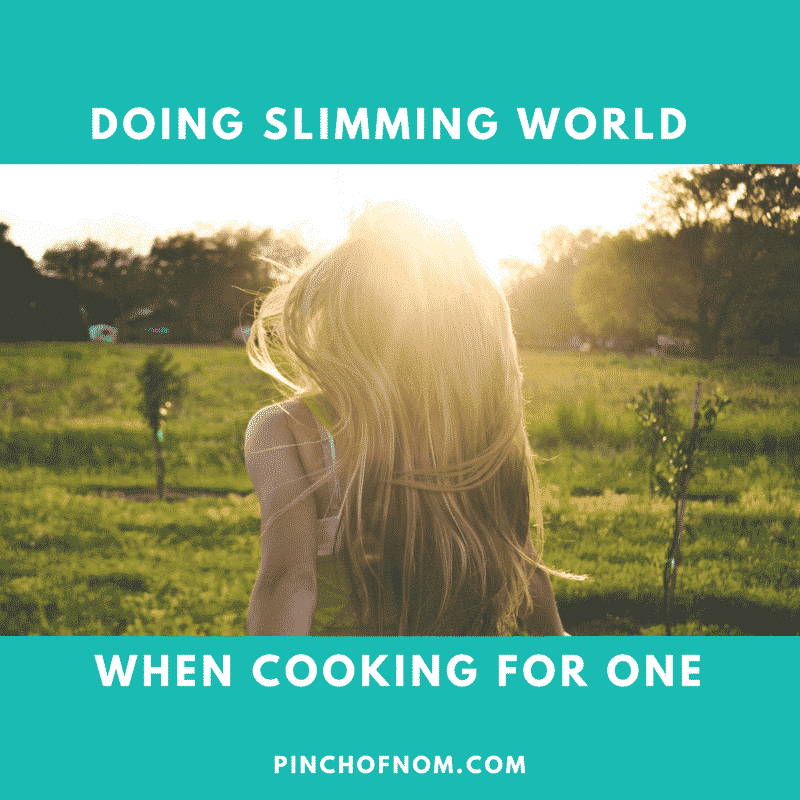 Cooking For One - A Pinch Of Advice | Slimming World