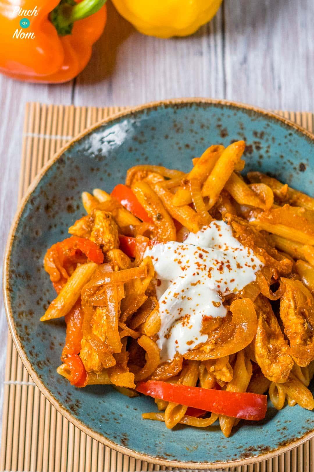 Syn Free Chicken Fajita Pasta Slimming World Pinch Of Nom
