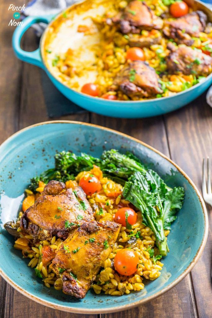 Syn Free one pot mediterranean chicken orzo | Slimming World-6
