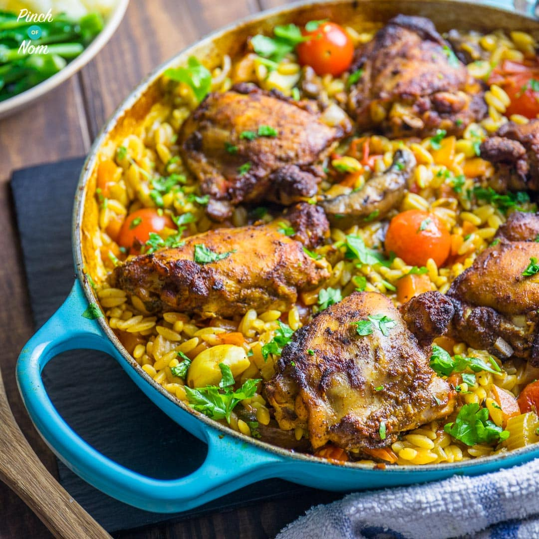 Mediterranean Pork And Orzo Recipe: The Long Awaited Pinch Of Nom Cookbook Is Out NOW