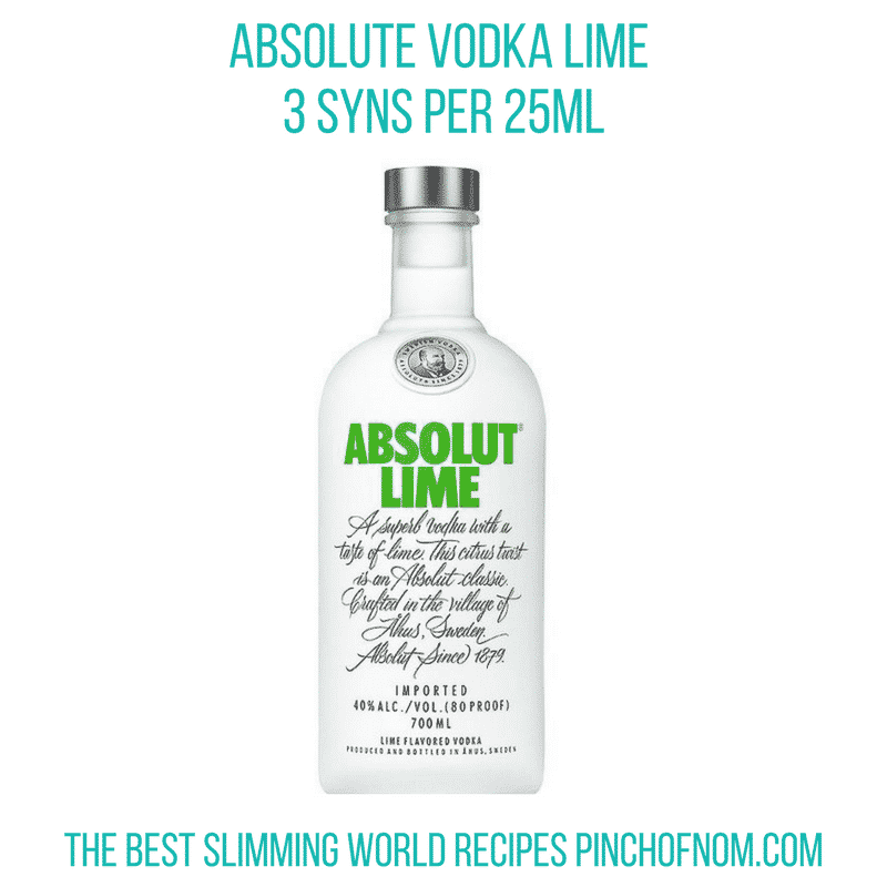 absolute vodka lime - pinch of nom new slimming world shopping essentials