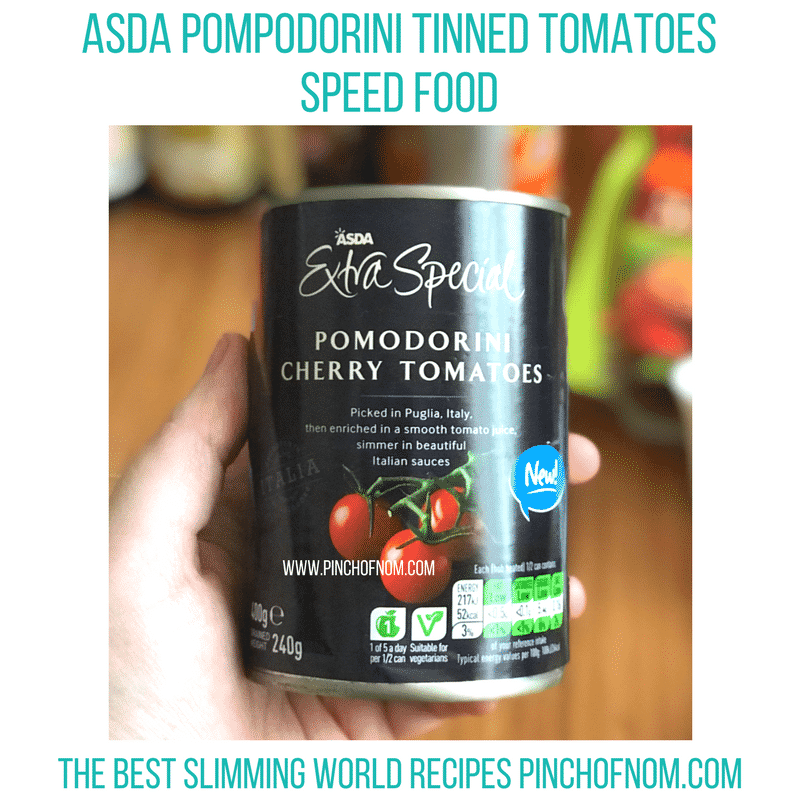 asda tinned tomatoes - pinch of nom new slimming world shopping essentials