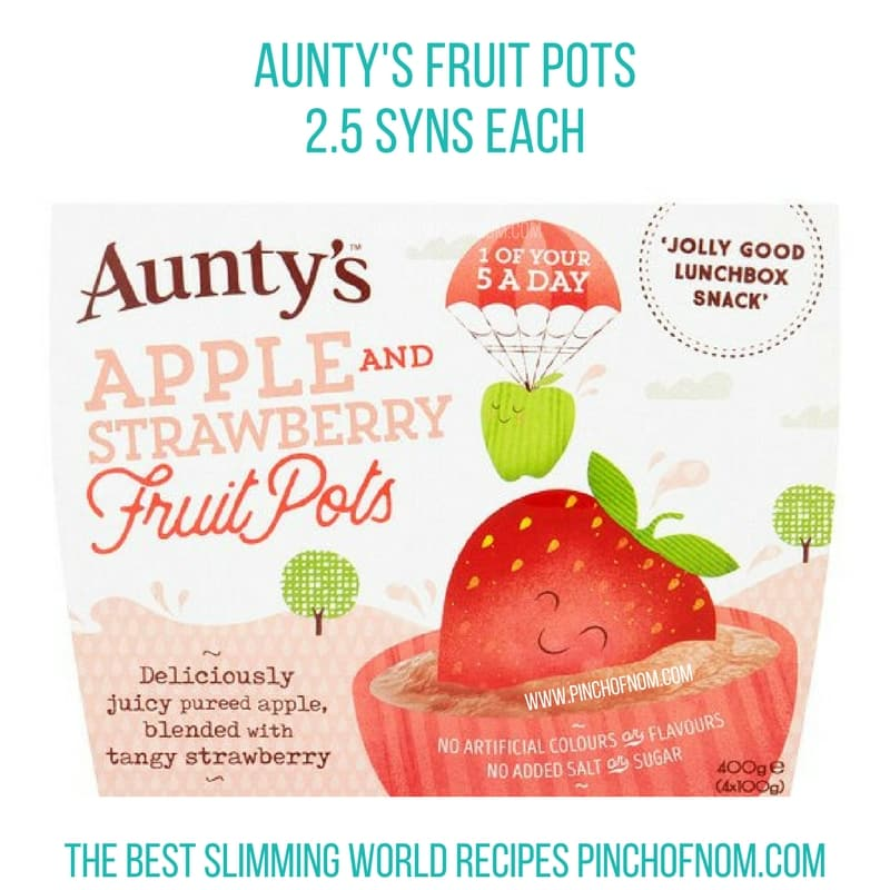 auntys fruit pots- New Slimming World Shopping Essentials pinch of nom