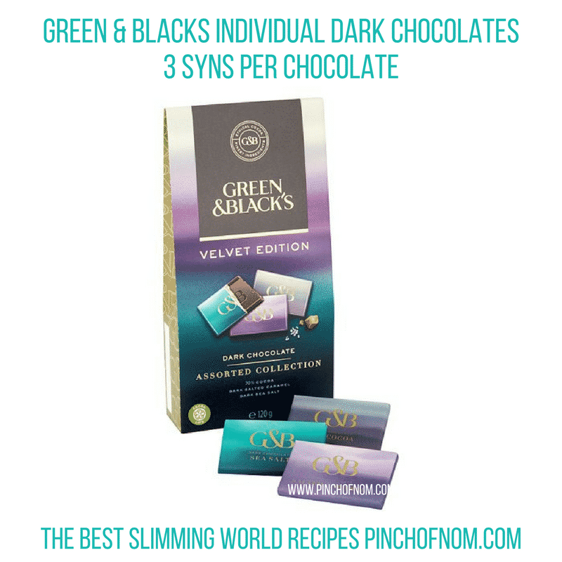 green and blacks individuals chocolates - pinch of nom new slimming world shopping essentials