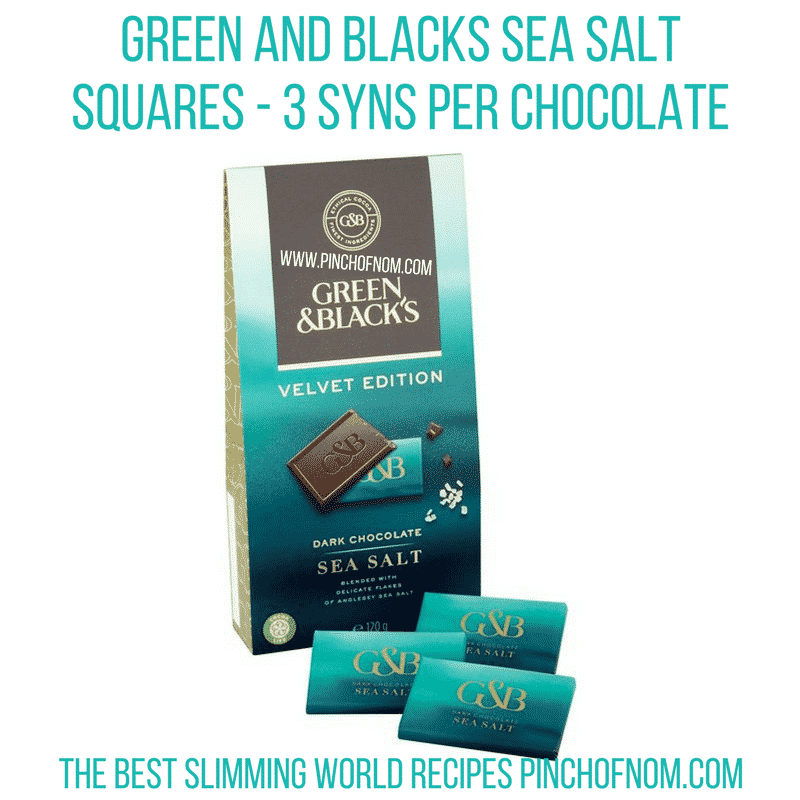 green and blacks sea salt squares - pinch of nom new slimming world shopping essentials