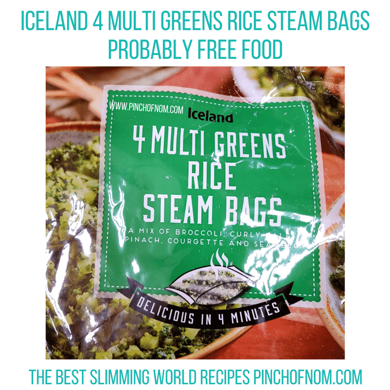 iceland green rice - pinch of nom new slimming world shopping essentials