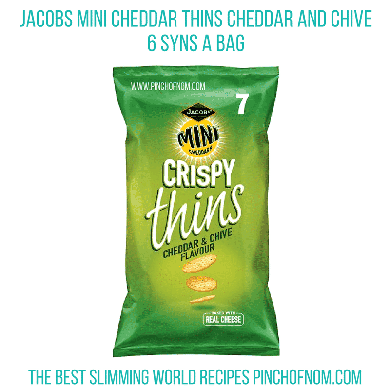 jacobs mini cheddar things cheddar and chive - pinch of nom new slimming world shopping essentials