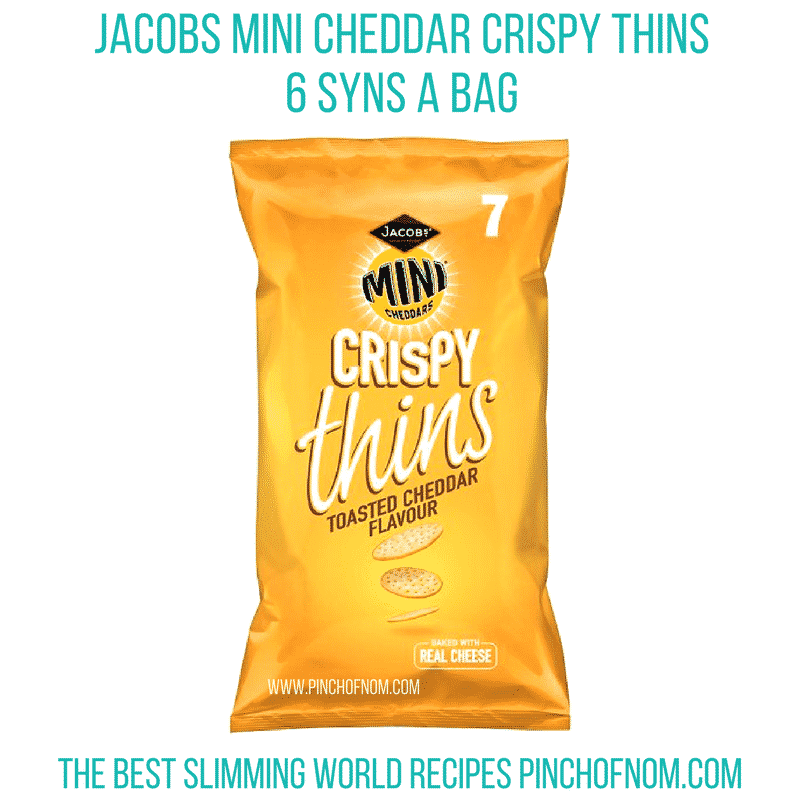 jacobs mini cheddar thins - pinch of nom new slimming world shopping essentials