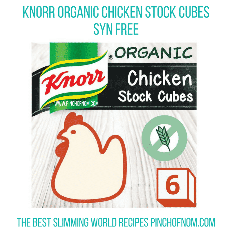 knorr chicken stock cubes - pinch of nom new slimming world shopping essentials