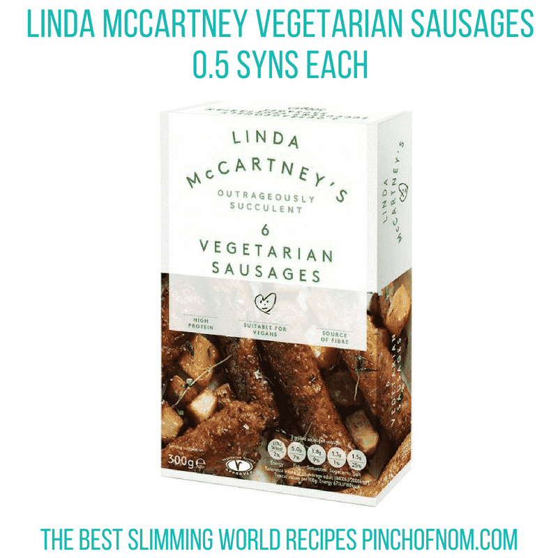 linda mccartney sausages- pinch of nom new slimming world essentials