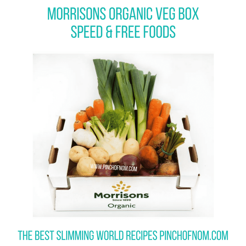 morrisons organic veg box - pinch of nom new slimming world essentials