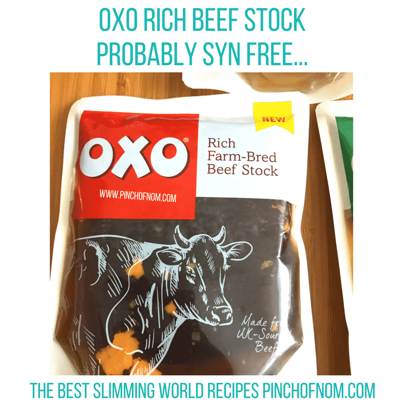 oxo beef stock - pinch of nom new slimming world shopping essentials