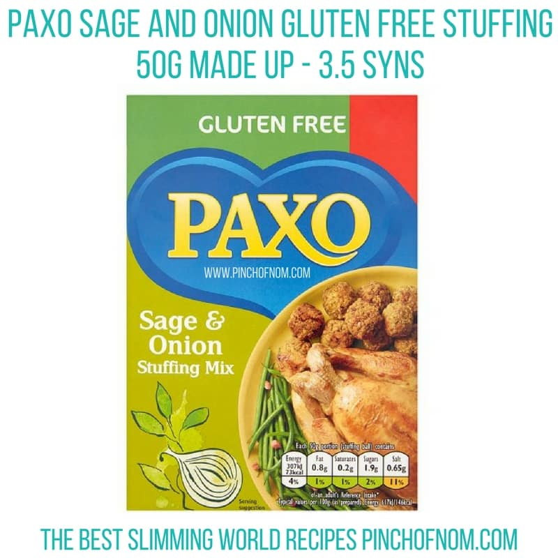 paxo gluten free stuffing - New Slimming World Shopping Essentials pinch of nom