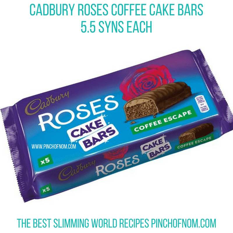 roses cake bars coffee - pinch of nom new slimming world essentials