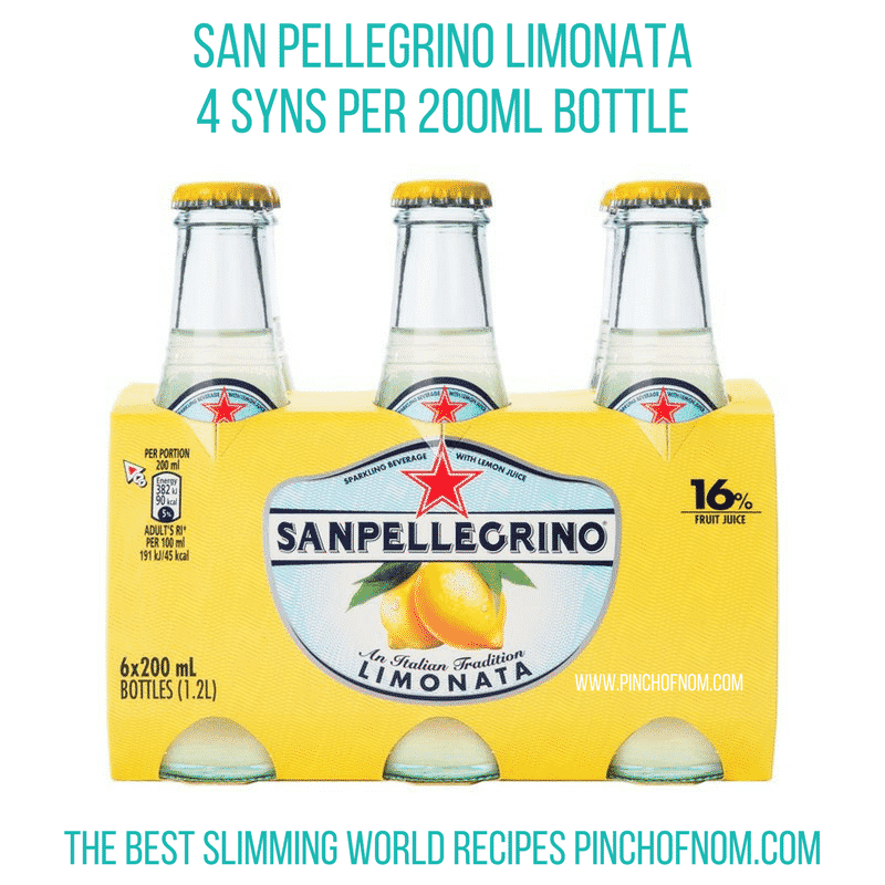 sanpellegrino - pinch of nom new slimming world shopping essentials