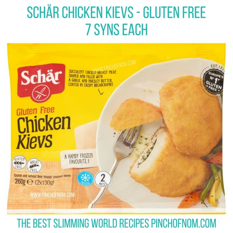 schar gluten free chicken kievs - New Slimming World Shopping Essentials pinch of nom