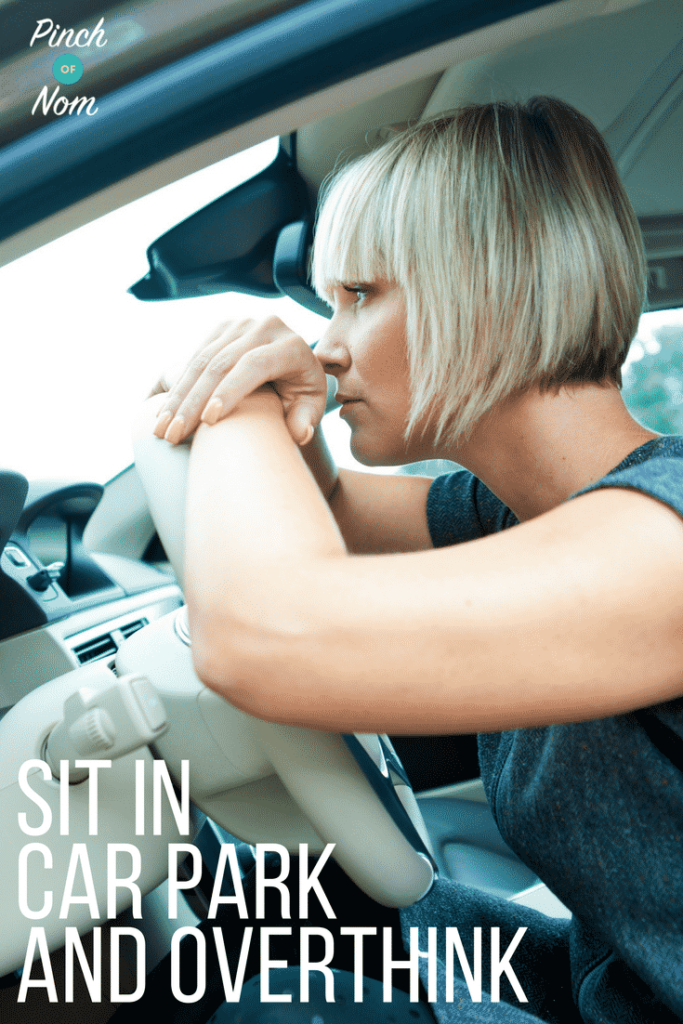 sitting in the car - What to Expect at a Slimming World Group - A Pinch Of Advice