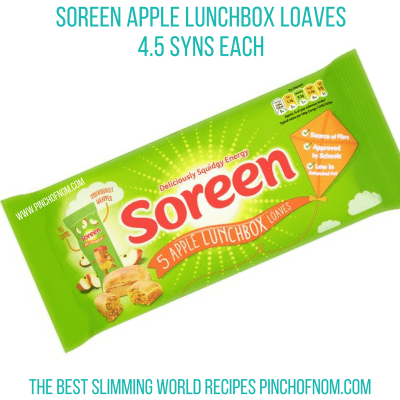 soreen apple bars - pinch of nom new slimming world essentials