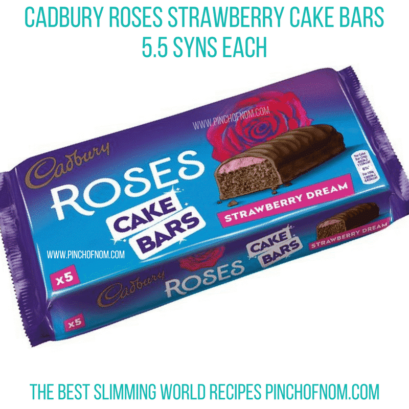 strawberry roses cake bars - pinch of nom new slimming world essentials