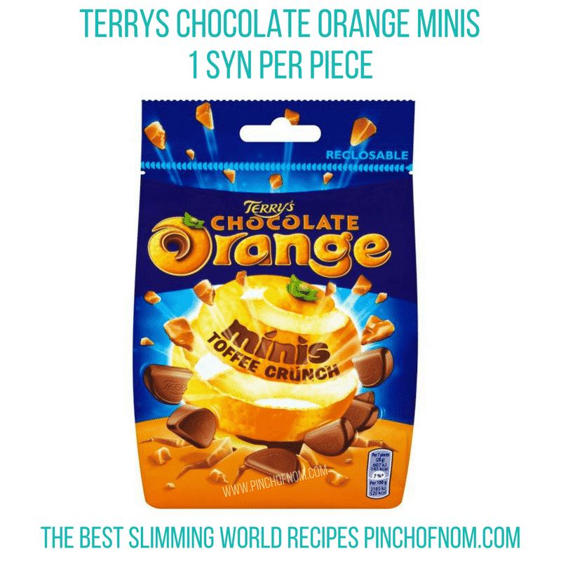 terrys chocolate orange minis - pinch of nom new slimming world shopping essentials