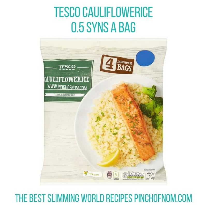 tesco cauliflowerice - New Slimming World Shopping Essentials pinch of nom