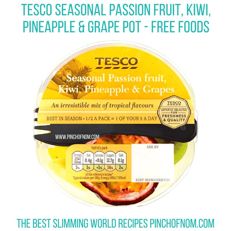 tesco seasonal fruit bowl - pinch of nom new slimming world shopping essentials