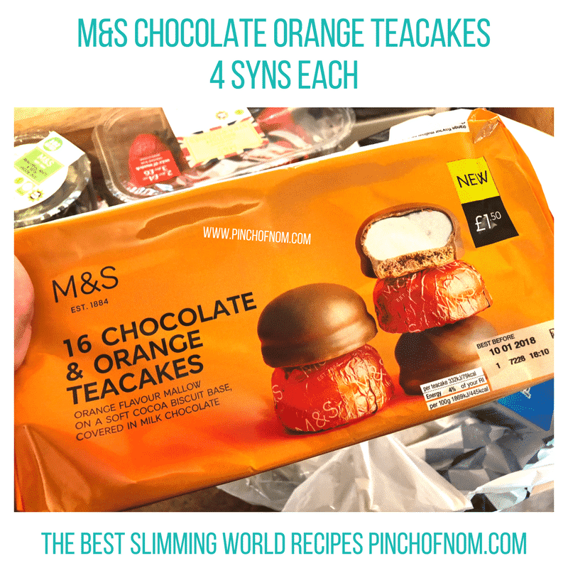 chocolate orange teacakes - pinch of nom slimming world shopping essentials