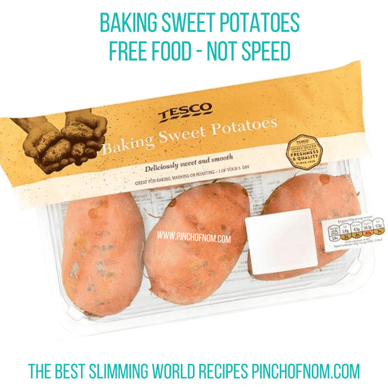 baking sweet potatoes - slimming world shopping essentials pin ch of nom