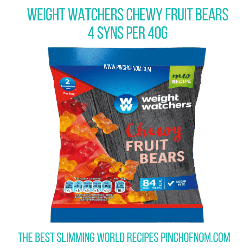 chewy fruit bears - pinch of nom slimming world shopping essentials october 17
