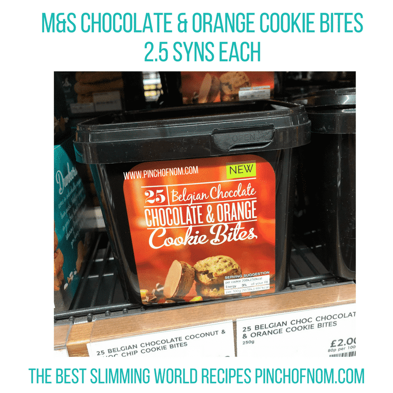 chocolate and orange cookies - pinch of nom slimming world shopping essentials