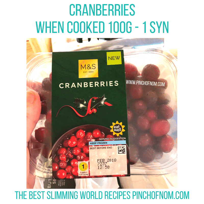 cranberries - pinch of nom slimming world shopping essentials