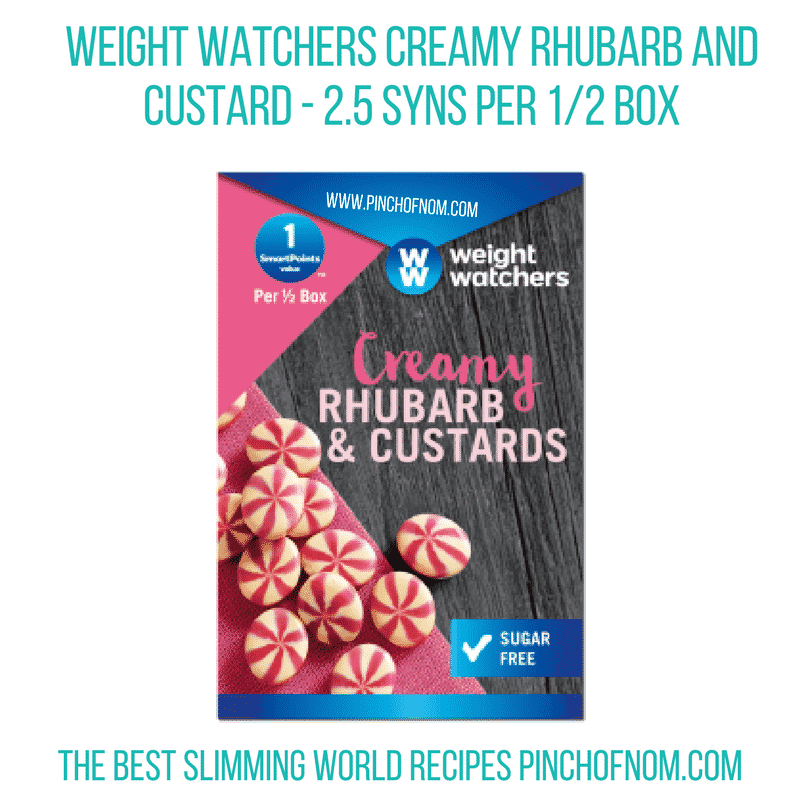 creamy rhubarb and custards - pinch of nom slimming world shopping essentials october 17