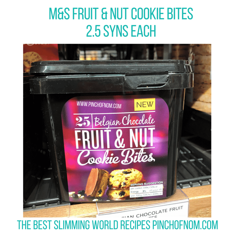 fruit and nut cookies - pinch of nom slimming world shopping essentials