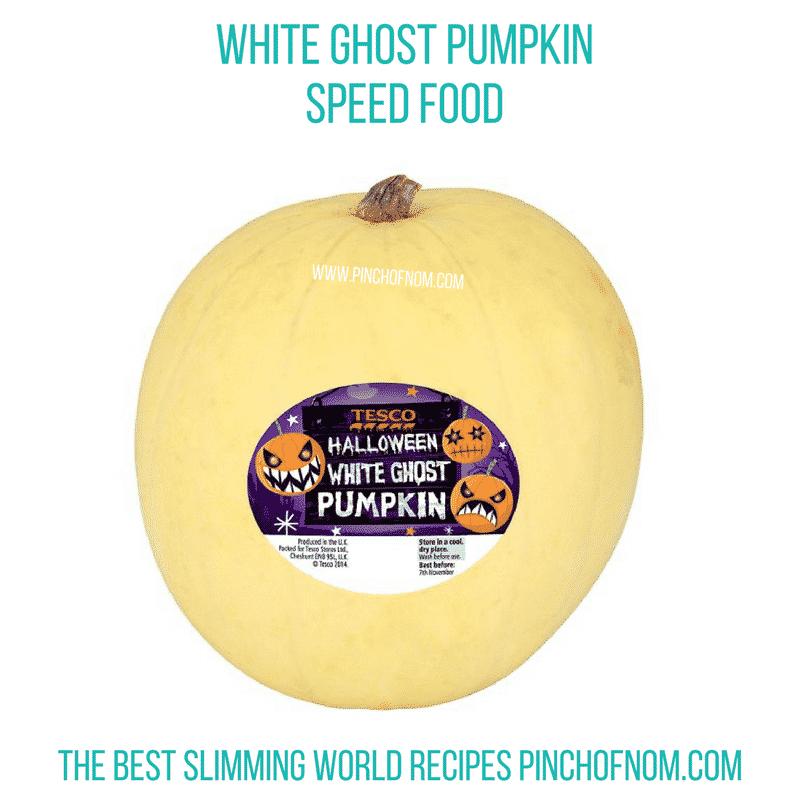 ghost pumpkin - slimming world shopping essentials pinch of nom