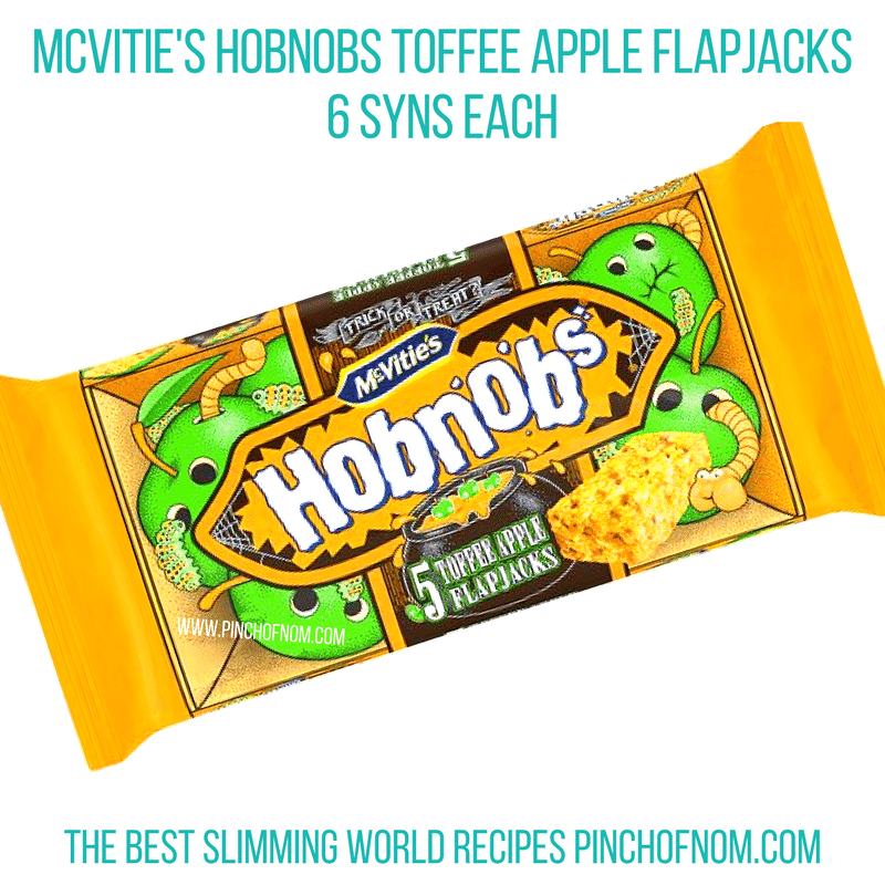 hobnob toffee apple flapjacks - pinch of nom slimming world shopping essentials