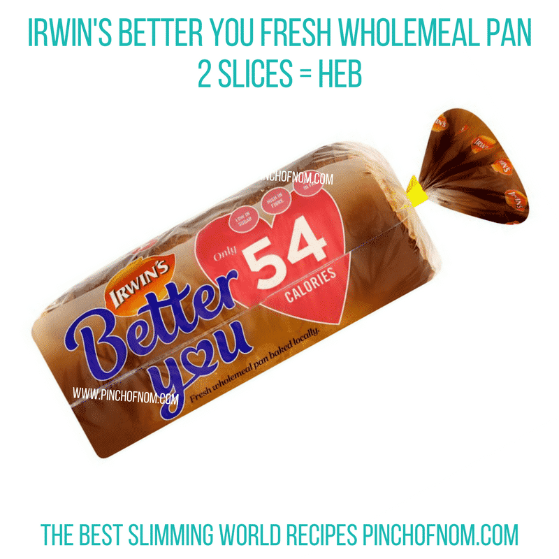 irwins better you wholemeal pan - pinch of nom slimming world shopping essentials october 17