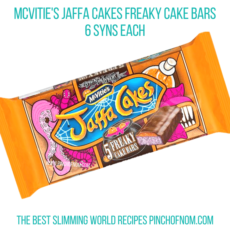 jaffa cake cake bars - pinch of nom slimming world shopping essentials