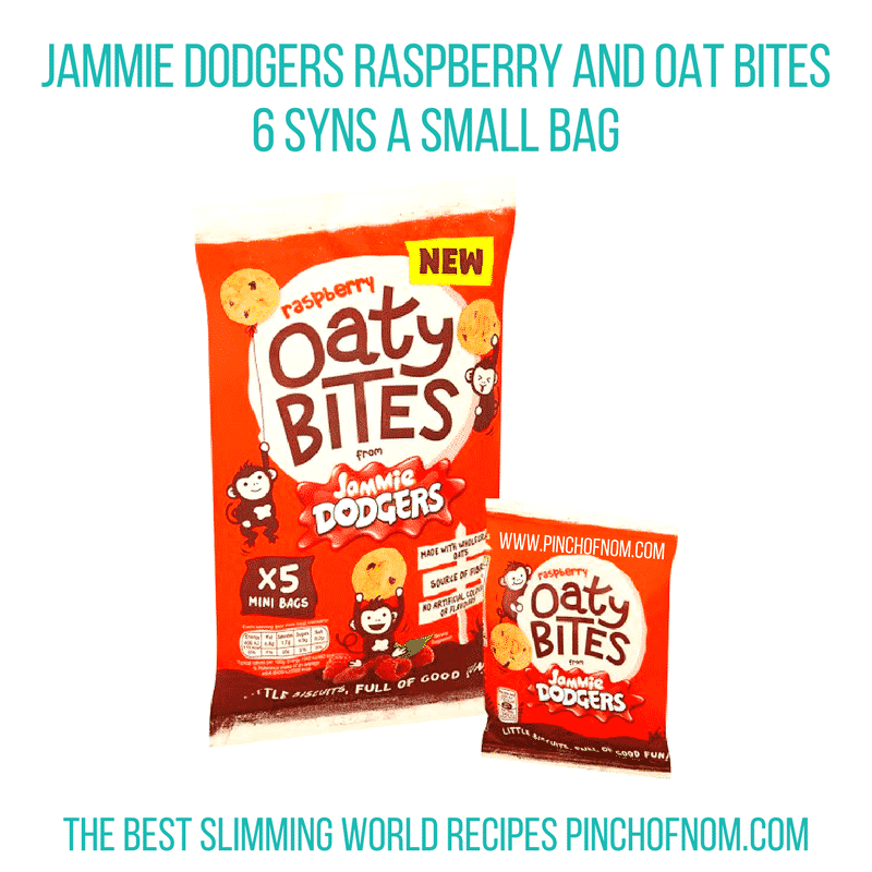 jammie dodgers raspberry and oat bites - slimming world shopping essentials