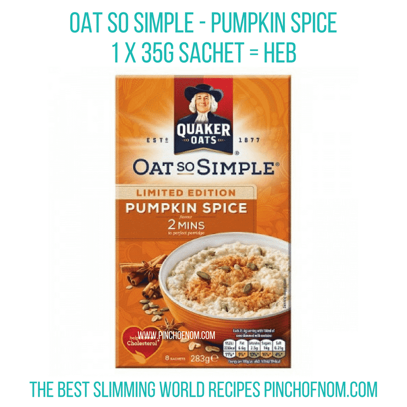 pumpkin oat so simple - New Slimming World Shopping Essentials 27:10:17