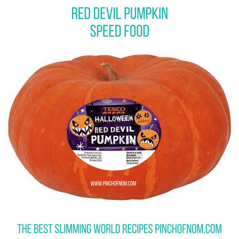 red devil pumpkin - slimming world shopping essentials pinch of nom