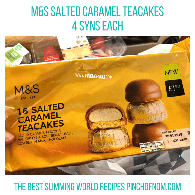 salted caramel teacakes - pinch of nom slimming world shopping essentials