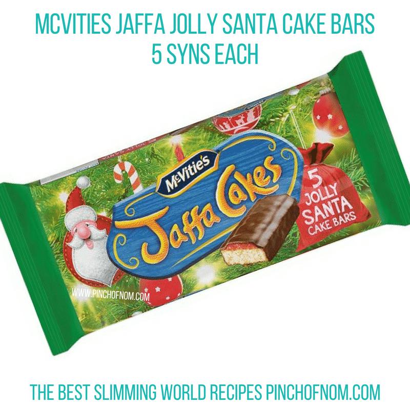 jaffa jolly santa cake bars - slimming world shopping essentials pinch of nom