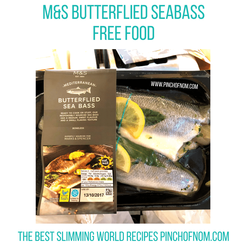 seabass - pinch of nom slimming world shopping essentials