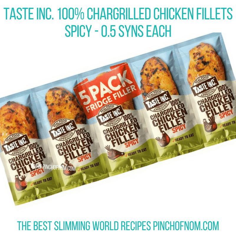 taste inc spicy chicken - pinch of nom slimming world shopping essentials october 17